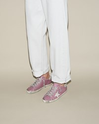 Golden Goose Superstar Sneakers Dark Lilac Silver