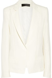 Haider Ackermann Linen And Silk Blend Blazer White