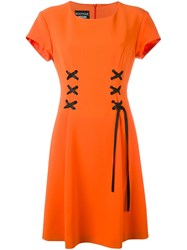 Boutique Moschino A Line Dress Yellow And Orange