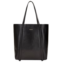Whistles Connaught Leather Tote Bag Black
