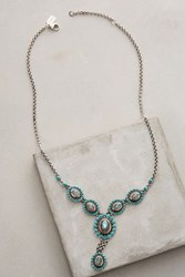 Anthropologie Sienna Pendant Necklace Turquoise