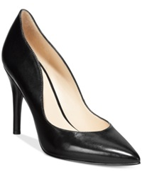 Nine West Fidder Dress Pumps Women's Shoes Black Leather