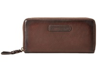 Frye Jenny Zip Wallet 2 Dark Brown Soft Vintage Leather Wallet Handbags