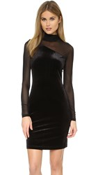 Ganni Campbell Velour Dress Black