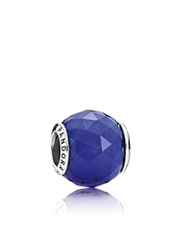 Pandora Design Pandora Charm Sterling Silver And Crystal Royal Blue Geometric Facets Moments Collection