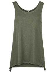 Fat Face Knitted Vest Top Khaki