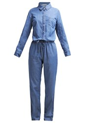 Naf Naf Bend Jumpsuit Stone Washed Stone Blue