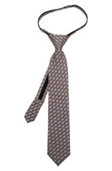 Cufflinks Inc. Boy's 'Star Wars Darth Vader Dot' Silk Tie Grey Gray