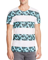 Kid Dangerous Palm Stripes Graphic Tee White