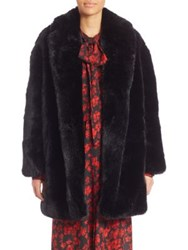 Mcq By Alexander Mcqueen Faux Fur Shawl Collar Coat Black