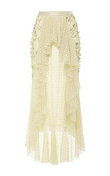 Rodarte Pearl Tulle Flower Skirt Yellow