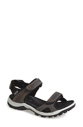 Ecco 'Offroad' Lightweight Sandal Women Dark Shadow Black