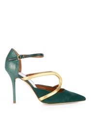 Malone Souliers Veronica Snakeskin Suede And Leather Pumps