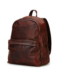 Tyler Rugged Leather Backpack Dark Brown Frye