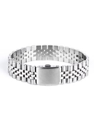 Mister Silver Chrome Band Bracelet