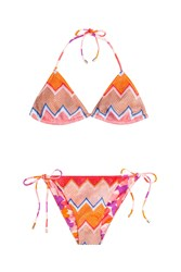 Missoni Mare Reversible Knit Triangle Bikini Multicolor