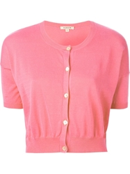 P.A.R.O.S.H. Cropped Cardigan Pink And Purple