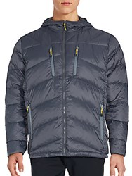 Hawke And Co Hooded Puffer Jacket Grey