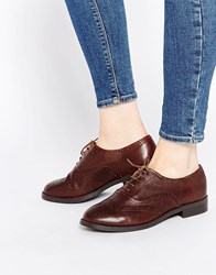 New Look Wide Fit Leather Brogue Brown