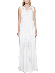 French Connection Castaway Lace Maxi Dress Summer White