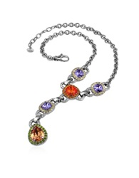 A Z Collection Purple And Orange Drop Necklace