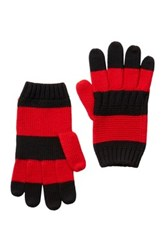 Hunter Striped Wool Gloves Red