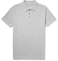 Loewe Cotton Pique Polo Hirt Gray