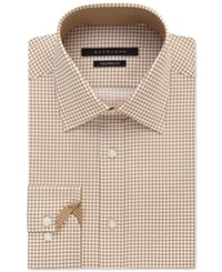 Sean John Men's Classic Fit Desert Check Pattern Dress Shirt