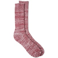 Universal Works Marl Sock Red