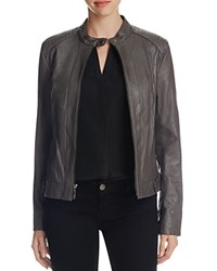 Cole Haan Wing Collar Goat Leather Jacket Dove