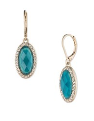 Lonna And Lilly Goldtone Oval Drop Earrings