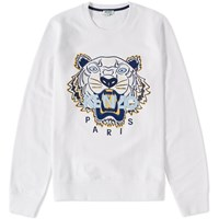 Kenzo Tiger Molleton Crew Sweat White