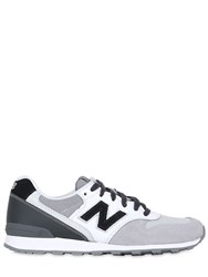 New Balance 996 Nylon And Suede Sneakers