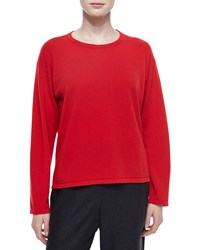 Eskandar Cashmere Round Neck Sweater Women's