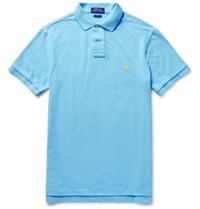 Polo Ralph Lauren Slim Fit Cotton Pique Polo Shirt Blue