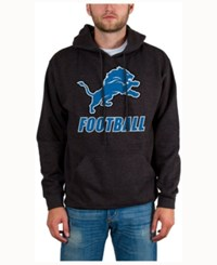 Junk Food Men's Detroit Lions Wing T Formation Hoodie Heather Charcoal