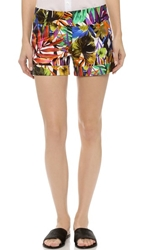 Milly Tropical Print Nikki Shorts Multi
