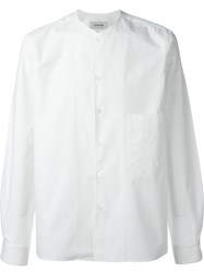 Christophe Lemaire Lemaire Collarless Shirt White