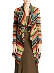 Polo Ralph Lauren Striped Draped Cardigan Bright Serape