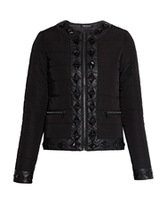 Morgan Quilted Jacket With Jewelled Detail Black