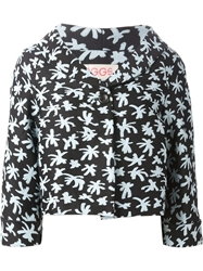 Eggs Star Print Cropped Jacket