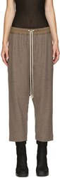 Rick Owens Brown Cropped Trousers