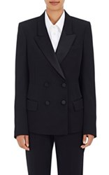 Maison Martin Margiela Women's Double Breasted Wool Tuxedo Jacket Black