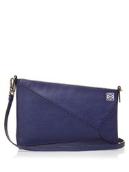 Loewe Puzzle Leather Clutch Navy
