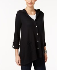 Styleandco. Style Co. Hooded Thermal Jacket Only At Macy's Deep Black