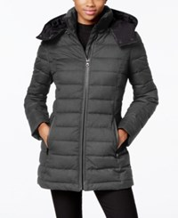 Nautica Hooded Puffer Coat Charcoal