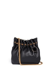 Stella Mccartney 'Noma' Curb Chain Eco Leather Bucket Bag Black