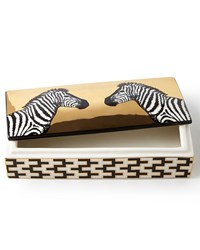 Animalia Zebra Trinket Box Black Gold Jonathan Adler