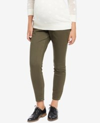 Motherhood Maternity Skinny Pants Olive
