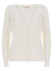 Nougat London Iris Pointelle Cardigan Cream